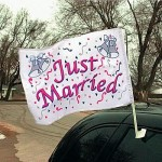 "Example of ""Just Married"" Flag"